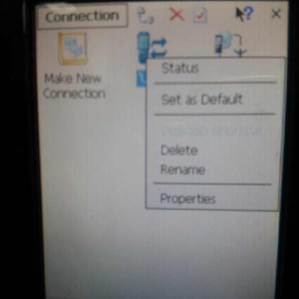 winCE_connection_remove_set_as_default_to_connect_to_windows_7_x64