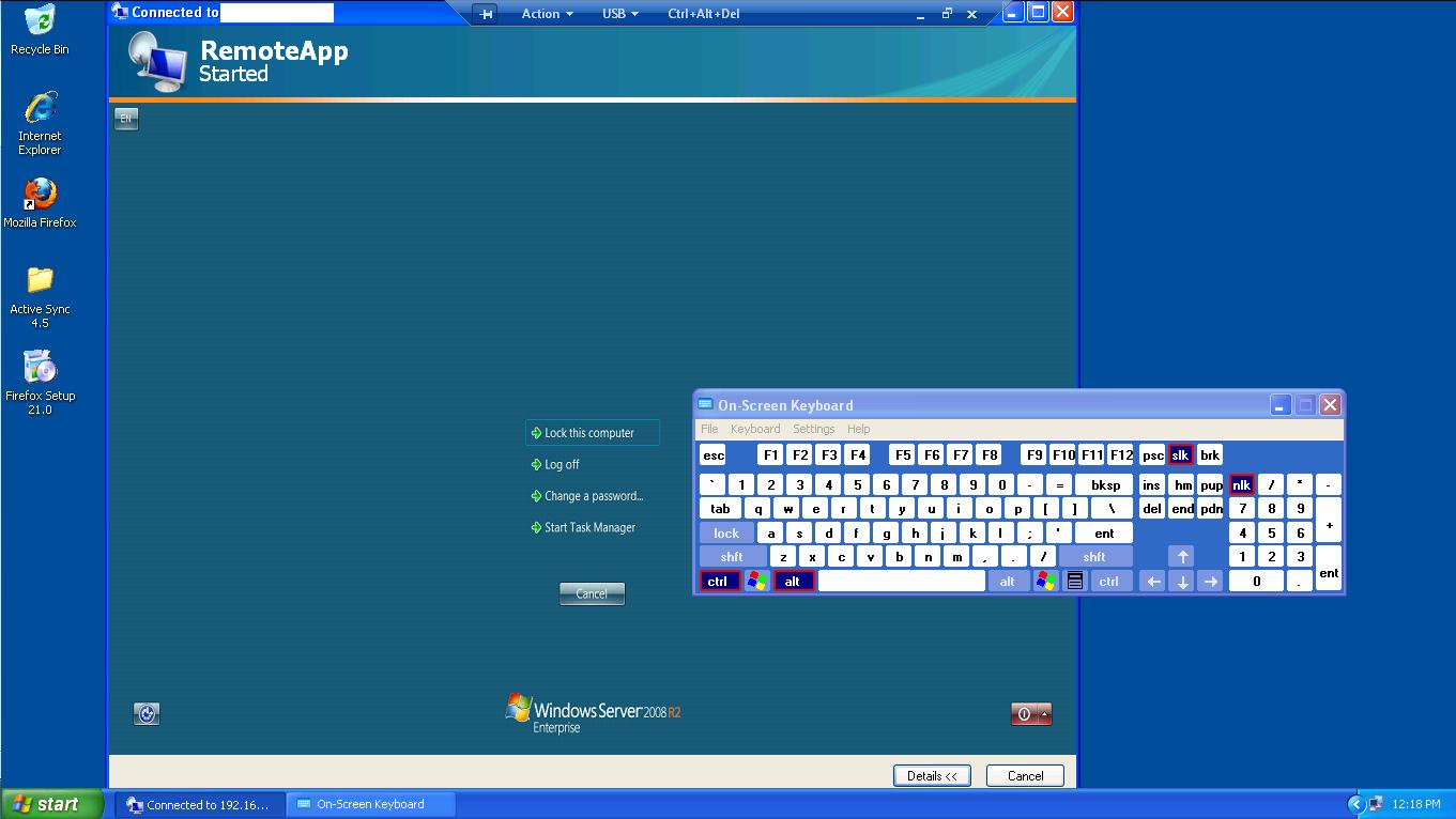 windows ] terminate remoteApp session + terminate remoteApp