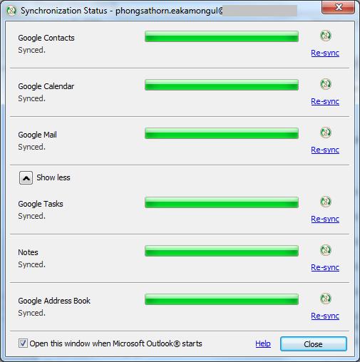Google App Sync` to `Microsoft Outlook` uses `MAPI`   dsin